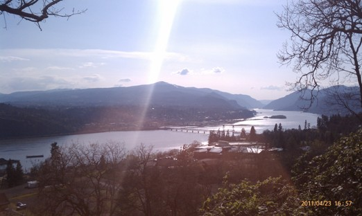 View of Hood River Bridge from Burdoin Mt